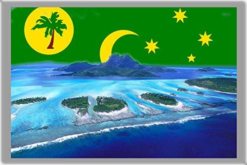 WEST ISLAND FRIDGE MAGNET, THE CAPITAL CITY OF COCOS (KEELING) ISLANDS MAGNETICA CALAMITA FRIGO