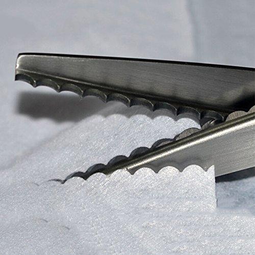 G Ganen Fabric Decorative Edge Pinking Shears Scissors Large Scallop Cut 5 mm 1/5 Inch