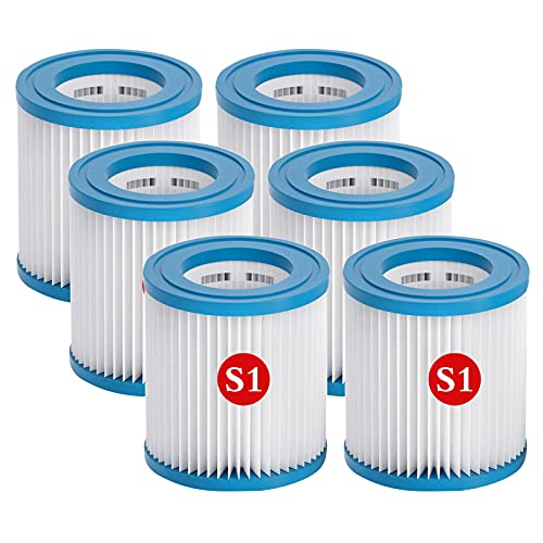 Cartucho de filtro tipo S1 para piscinas, filtro de repuesto para piscina Intex S1, bomba de cartucho de filtro, Easy Set, cartuchos de filtro para piscina, apto para jacuzzi, PureSpa (6)