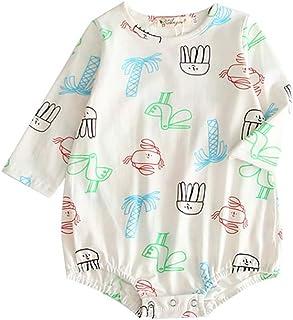 ALLAIBB Toddler Unisex Babies Autumn Long Sleeve Romper Cotton Cartoon Graffiti Jumpsuit