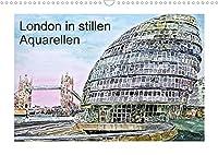 London in stillen Aquarellen (Wandkalender 2022 DIN A3 quer): Londons zauberhafte Sehenswuerdigkeiten (Monatskalender, 14 Seiten )