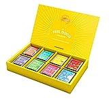 lipton coffret thés et infusions sélection détente, assortiment de 8 thé noir, thé vert et