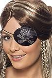 SMIFFYS Smiffy's Benda da pirata motivo con diamanti Donna, Nero, 31955