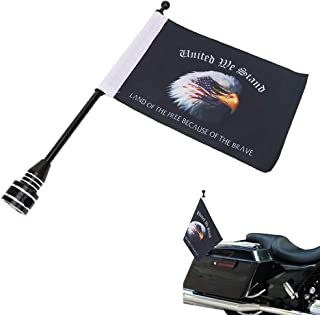 Eagle on American Flag 6 x 9`` Flags Motorcycle Flag Pole Mount For Honda Goldwing CB VTX CBR Yamaha Harley Davidson All Weather Double Sided Flag Rack
