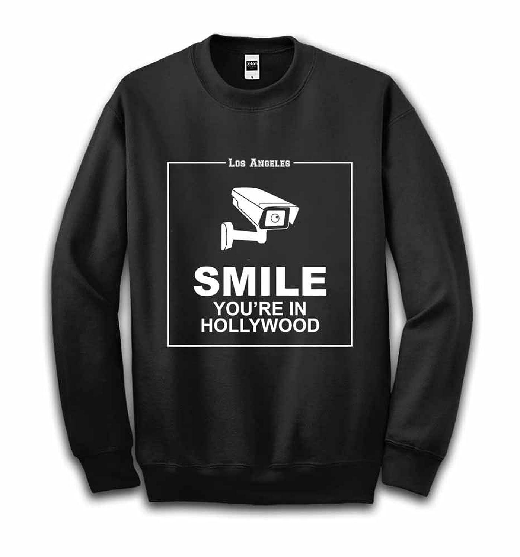 Fox Republic 監視カメラ 「ほら笑って、ハリウッドにいるんだから」 ブラック キッズ スウェット 130cm