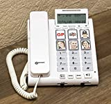 Geemarc Photophone 450 - Amplified Corded Telephone with Picture Buttons and Caller ID - UK Version, White