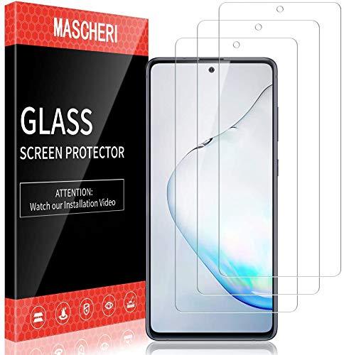 MASCHERI Schutzfolie für Samsung Galaxy Note 10 Lite Panzerglas,[3 Stück] Bildschirmschutzfolie Bildschirmschutz Glas Panzerfolie Panzerglasfolie Schutzglass Folie Panzerglass für Samsung Note 10 Lite
