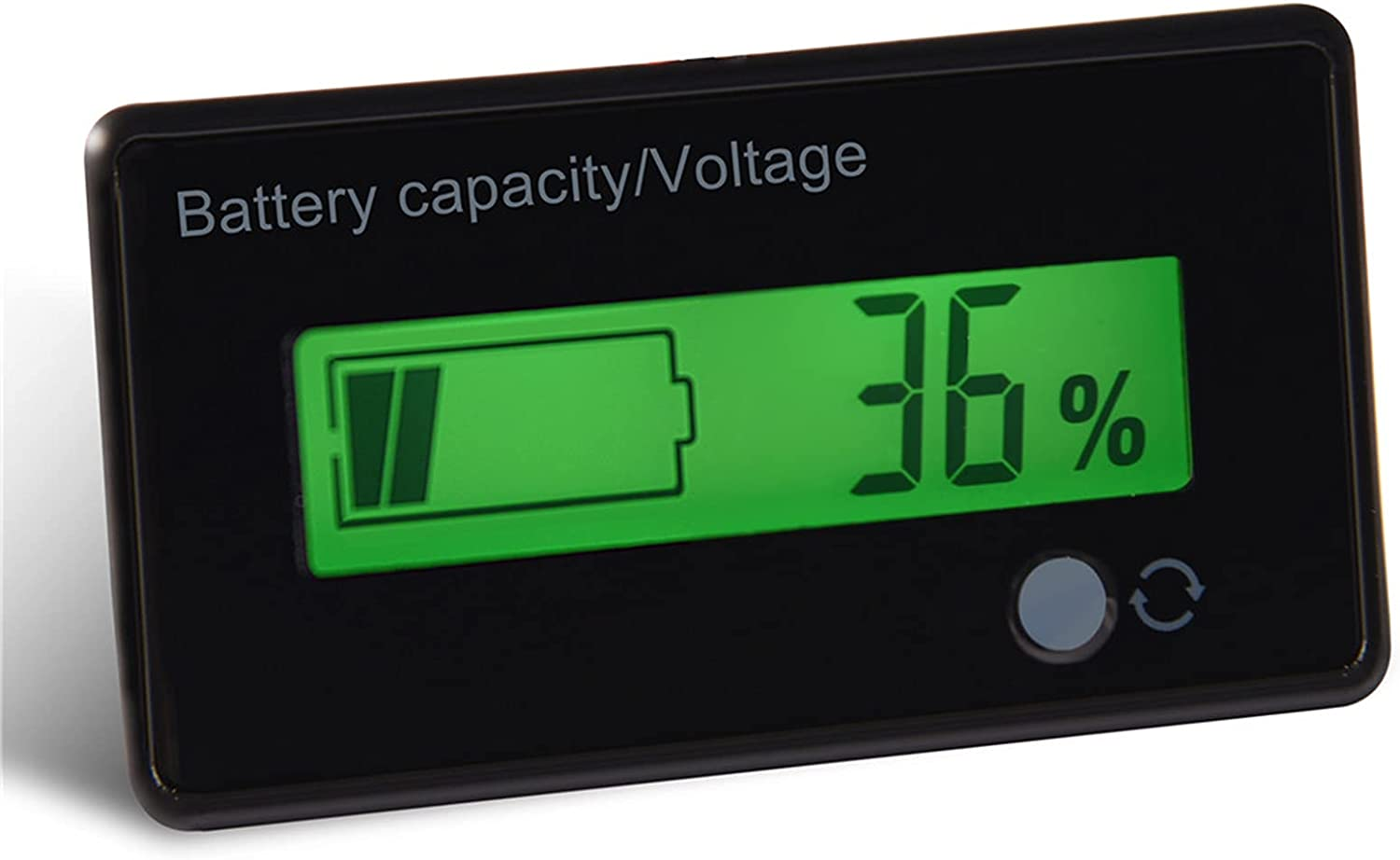Wosune Voltage Meter, Waterproof Battery Tester LCD Screen Practical for Power Supply for Battery Pack for EPS for UPS