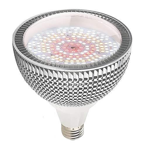 LED Pflanzenlampe 150W Tageslichtweiß Vollspektrum Pflanzenlicht, 200 LEDs Wachstumslampe, E27 Led Grow Lampe für Gewächshäusern,Innengärten,Zimmerpflanzen,Hydroponische Pflanzen wachsen