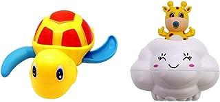 TOYANDONA 2 Pcs Floating Bathtub Toy Cloud Fawn Deer Shape Water Sprinkler Toy Floating Turtle Plaything Game Bathroom Acc...