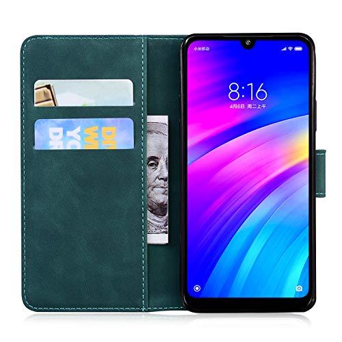 Hülle für Xiaomi Redmi 7 Handyhülle Schutzhülle Leder PU Wallet Bumper Lederhülle Ledertasche Klapphülle Klappbar Magnetisch für Xiaomi Redmi 7 - ZITX010721 Grün