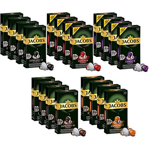 Jacobs Lungo & Espresso Vielfalt Kaffeepads Bündeln - Nespresso® * Kompatible Aluminium-Kaffeekapseln - 20 Packungen (200 Pads)