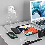Lencent Reiseadapter Netzadapter DE EU Stecker mit 3 USB Ports+1 Typ-C Port für USA Amerika Kanada Mexiko Steckdose Buchse Steckdose-Adapter Weiß - 7