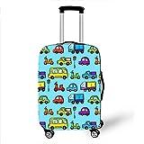 Kofferhülle/Elastisch Kofferschutz/Reisekoffer Hülle/Luggage Cover Zum 18-32 Zoll Gepäckabdeckung.Elasticity Scratchproof,Cute travel [S] Blue