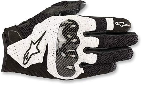 Alpinestars Motorradhandschuhe Smx-1 Air V2 Gloves Black White, Schwarz/Weiss, L