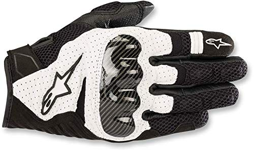 Alpinestars SMX-1 Air V2 Motorcycle Riding/Racing Glove (X-Large, Black/White)