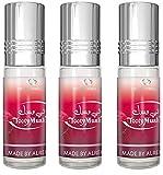 Set de 3 Almizcle Musc TOOTY MUSK Al Rehab 6ML Perfumes de Mujer Perfumes Hombre Attar Perfume Sin Alcohol 100% de Aceite Almizcle Oud Roll on, NOTAS: Afrutado, Rosado, Almizclado, Dulce