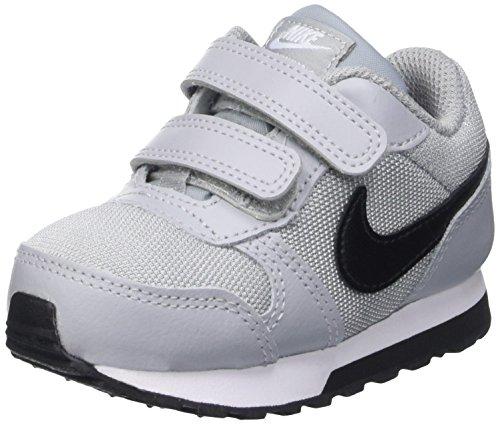 Nike Jungen MD Runner 2 (TDV) Low-Top, Grau Wolf Grey Blk TTL Crmsn White, 21 EU