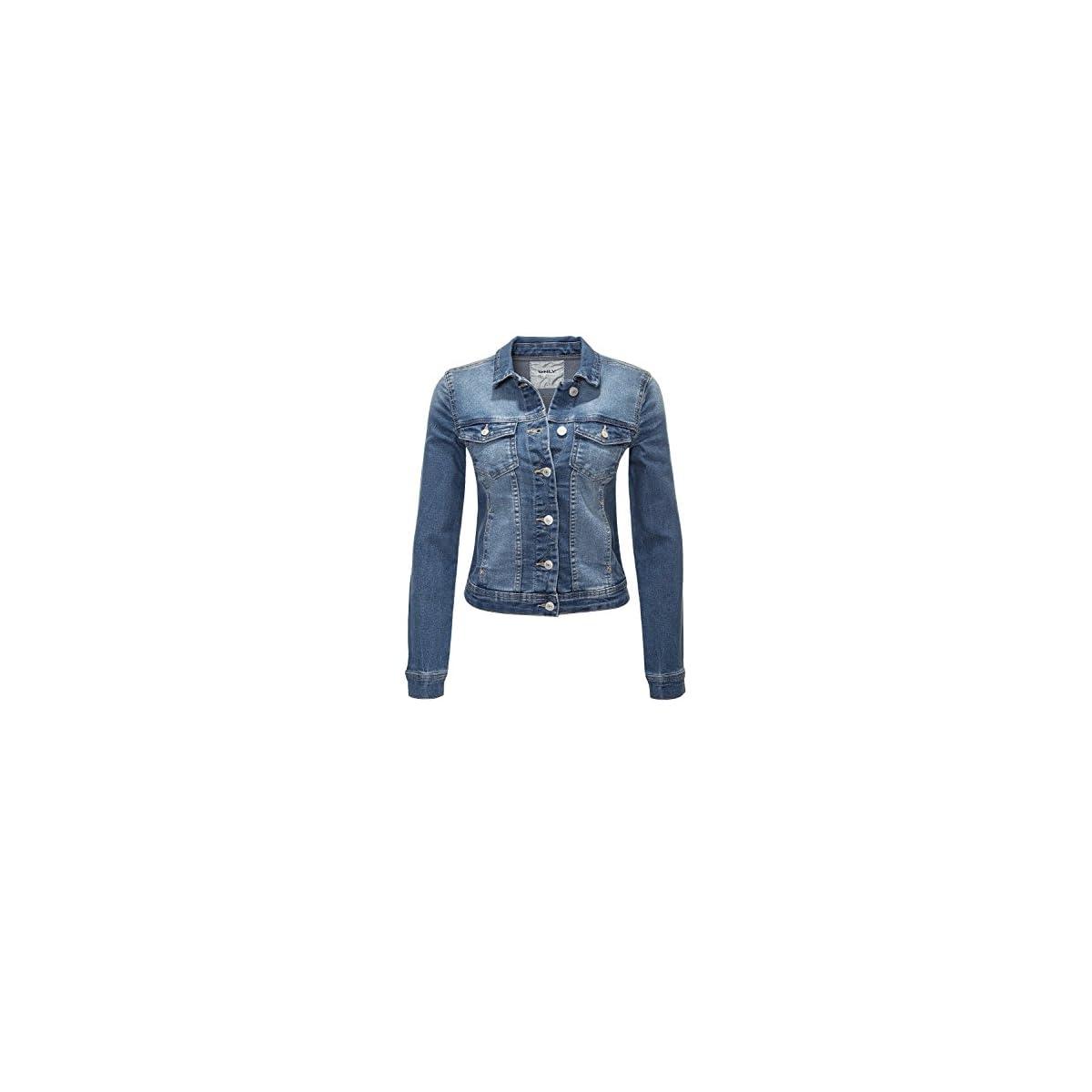 ONLY Damen Jeansjacke Übergangsjacke Leichte Jacke Denim Casual Medium Blue Denim