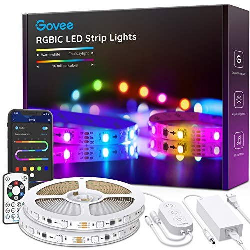 Govee Rgbic Led Strip Lights, App and Remote Control for Bedroom, Living Room, Kitchen, and Party 1