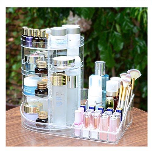 Coffrets de maquillage Boîte de Stockage de cosmétiques Support Rotatif boîte de Finition de Soin de Peau Transparente 37 * 22.5 * 32cm (14.5 * 8.8 * 12.5 Pouces) (Color : Transparent)
