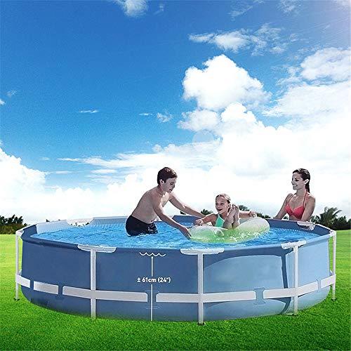 305 * 76 Cm Rond Frame Bovengronds Zwembad Vijver Familie Zwembad Filter Pomp Metalen Frame Structuur Zwembad
