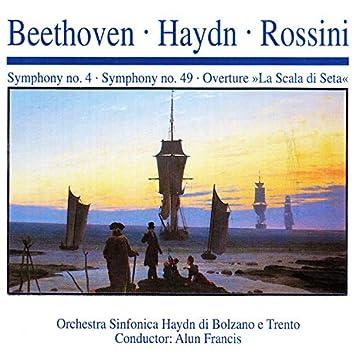 """Beethoven · Haydn · Rossini: Symphony No. 4 · Symphony No. 49 · Overture """"La Scala di Seta"""""""