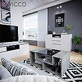 Vicco Couchtisch Gabriel 100 cm Sofatisch Kaffeetisch Beistelltisch Ablage (Beton Schwarz) - 4