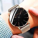 LYAO Reloj De Hombre De Negocios Ultrafino Reloj De Cuarzo, Correa De Acero Inoxidable Reloj Simple Reloj Masculino Reloj De Hombre Z