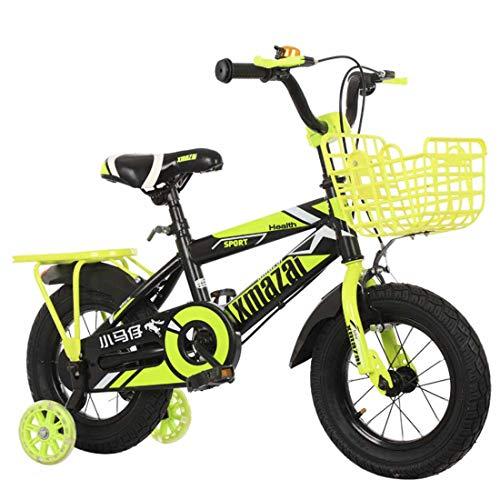 MUYU 12 Inch (14 Inch, 16 Inch 18 Inch) Kids Fiets Met Flash Assist Wheel voor 3-8 Jaar Oude Kinderen Fiets