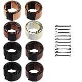 Lictin 8* Bandeau Chignon Magique Outils de Coiffure Bun Maker Set Accessoire de Cheveux avec 10 Epingles à Cheveux Noir pour Filles Femmes