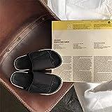 B/H Extra Ancho Diabéticos Zapatillas,Sandalias Zapatillas para diabéticos, Empeine valgus Zapatos de enfermería altos-36_Negro sobre Blanco,Hombre Ajustable de Velcro Zapatillas Ortopédica