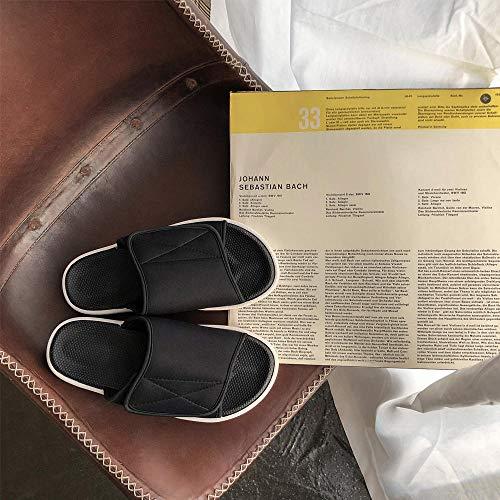 B/H Réglable Orthopédique Sandales,Sandales Chaussons diabétiques, Chaussures d'allaitement Hautes Valgus Instep-38_Noir sur Blanc,Fermetures Pieds gonflés d'oedème de Bottes Pantoufles