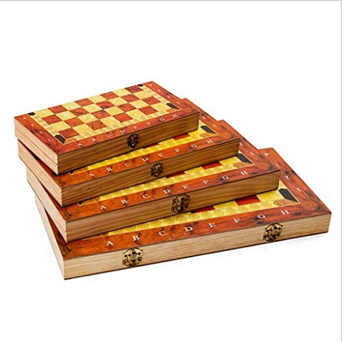 XHH Chess Set Wooden International FolChess Board Wood Chess Game Entertainment Toys Gift Chess