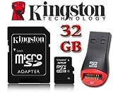 Kingston Carte mémoire micro SDHC 32Go Micro SD HC pour TomTom Start 25, Tomtom GO...