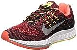 Nike W Air Zoom Structure 18 Zapatillas para Mujer, Negro / Coral / Gris, 38.5 EU