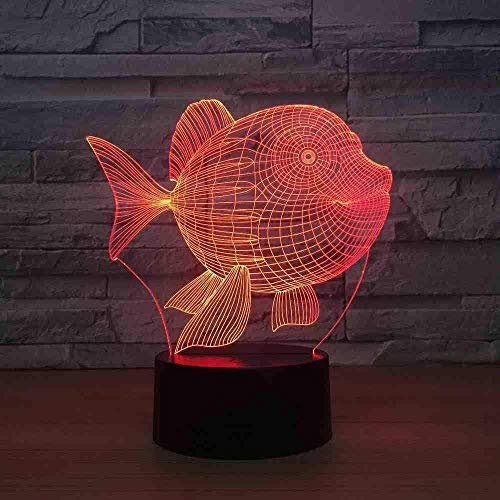 Dalovy Festival Belly Fish Home Electronics 3D Small Lamp Bedroom Bedside Colorful Touch Night Light Usb Led Light Fixtures