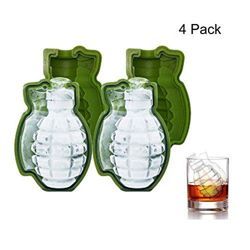 Miminuo IJsblokjesvorm, voor whiskey, ijs en cocktails, geschikt voor snoepjes, chocoladevormen, bakjes voor Halloween, bar, party, doe-het-zelf gereedschap