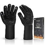 Vemingo Feuerfeste Handschuhe Grillhandschuhe Ofenhandschuhe | EN407 Hitzebeständige Bis zu 800 °...