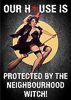 近所で保護ティンサイン壁鉄の絵レトロプラークヴィンテージ金属板装飾ポスターおかしいポスターバーガレージカフェホームの工芸品をぶら下げ
