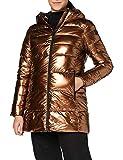 CMP Parka acolchada con efecto shiny chaqueta para mujer, Mujer, Chaqueta, 30K3506, Bronce, 40