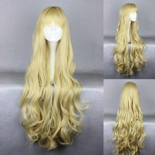 Ladieshair Cosplay Perücke blond 90cm lockig