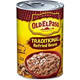 Old El Paso Traditional Refried Beans, 12 Cans, 1 Pound (Pack of 12)
