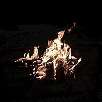 Winter Crackling Fire