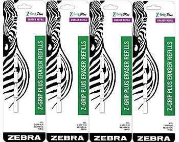 Zebra Z-Grip Plus Mechanical Pencil Eraser Refills 16-Count