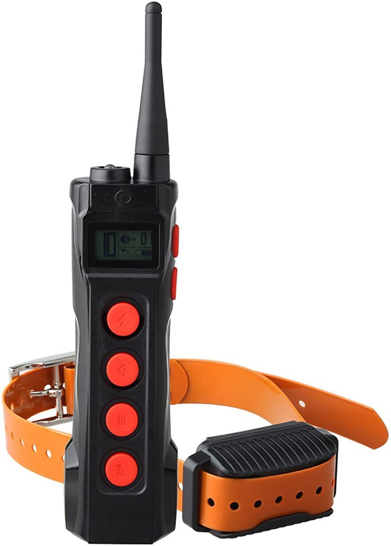 Aetertek Top Electric Remote Dog Shock Collar Training 10 Levels of Shock + vibrate + beep + Auto Anti Bark for Serious Stubborn Dog