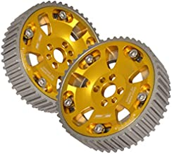 AJP Distributor Adjustable Cam Gears Timing Gear Pulley Kit Gold For 1989-2002 Nissan Skyline R32 R33 R34 GTR RB20 RB25 RB26