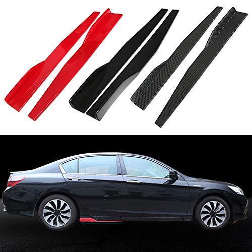 Car Universal Seitenschweller Modified Small Surrounded Blade Seitenschweller Schwarz