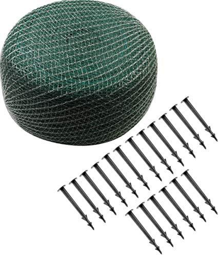 Meister Laubschutznetz 10 x 4 m - grün - 20 x 20 mm Maschenweite - Inklusive Erdanker - Robustes Gewebe - Witterungs- & UV-beständig / Netzabdeckung für Gartenteich & Pool / Teichnetz / 9961560