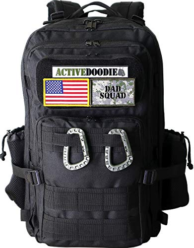 ActiveDoodie Diaper Bag for Dad, Tactical Advantage Bag for Dads, Changing Pad, Stroller Straps, Insulated Bottle Pouch, Dad Diaper Bag with Dad Squad Patches, Mens Diaper Bag